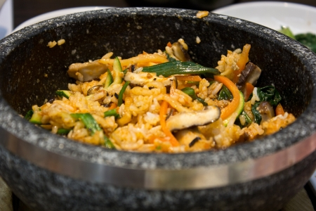 bibimbap in the korean restaurant photo