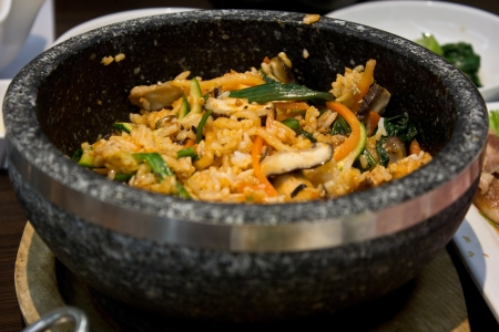bibimbap in the korean restaurant Stock Photo - 17029974