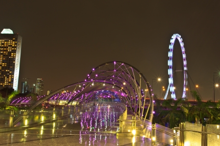singapore flyer views near the shoppes at marina bay sands photo