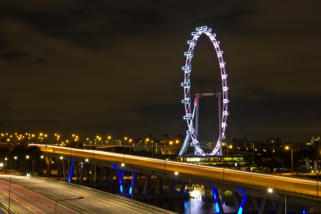 singapore flyer that near the express way