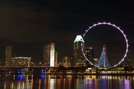 singapore flyer river view