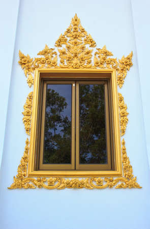 Window of Hor Phra  in Temple of The Wat Rhai Pa, Trat, Thailand photo