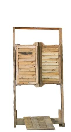 door swings: old western door  Stock Photo