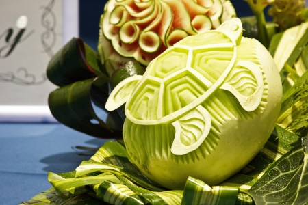 cantaloup carving in the Thailand  photo