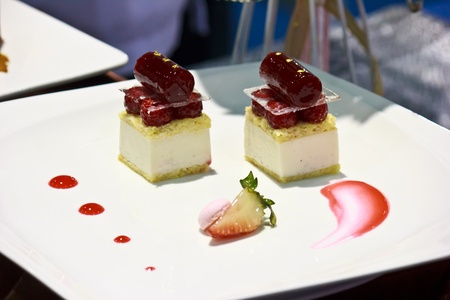 Vanilla Panna Cotta   Rasberry Jelly in The Thailand Ultimate Chef Challenge 2013 photo