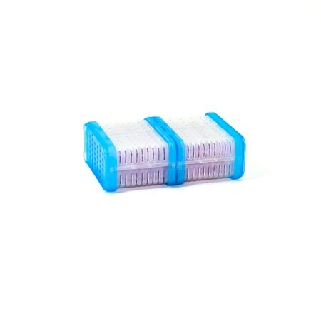 silica: gel di silice isolare su sfondo bianco Archivio Fotografico