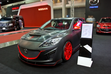 BANGKOK   JUNE 23 : NEW MAZDA 3 Show At The Second Bangkok International  Auto Salon