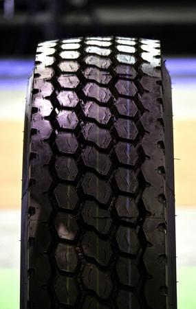black automobile tire  close up detail photo