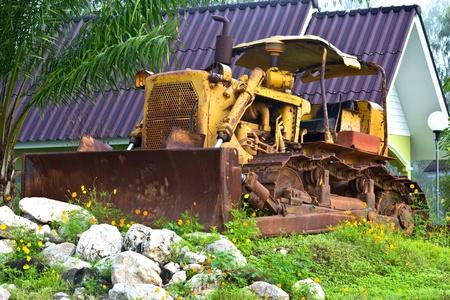 front loader: old Front End Loader Stock Photo