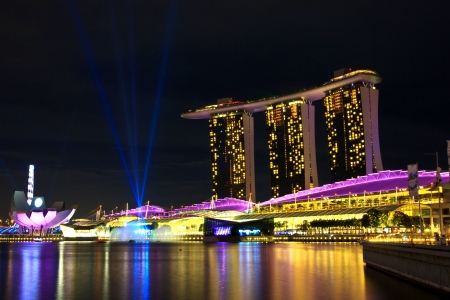 marina bay sand  in  singapore