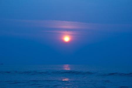 sun rise on the beach Cha um, Thailand photo