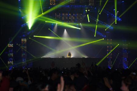 dancing feet: BANGKOK - DECEMBER 9   STEVE AOKI  show at  808 FESTIVAL 2013, a super-charged international beat buffet that is set to rock the ears dancing feet of Bangkok, Thailand