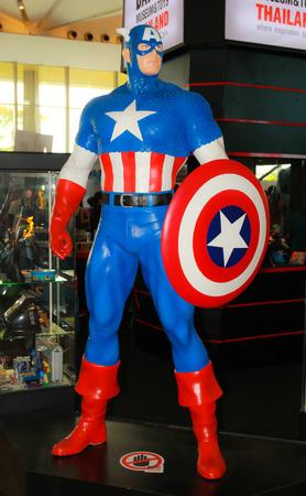 BANGKOK - MAY  11  A Captain America model in Thailand Comic Con 2014 on May 11, 2014 at Siam Paragon, Bangkok, Thailand