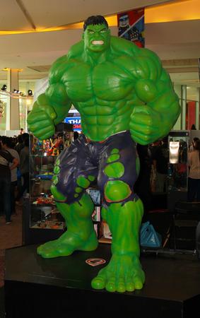 BANGKOK - MAY  11  A Hulk model in Thailand Comic Con 2014 on May 11, 2014 at Siam Paragon, Bangkok, Thailand