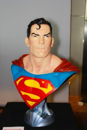 BANGKOK - MAY  11  A Superman model in Thailand Comic Con 2014 on May 11, 2014 at Siam Paragon, Bangkok, Thailand