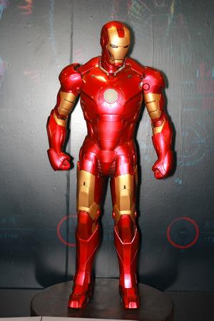 BANGKOK - MAY  11  An Iron Man model in Thailand Comic Con 2014 on May 11, 2014 at Siam Paragon, Bangkok, Thailand
