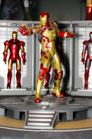 paragon: BANGKOK - MAY  11  An Iron Man model in Thailand Comic Con 2014 on May 11, 2014 at Siam Paragon, Bangkok, Thailand