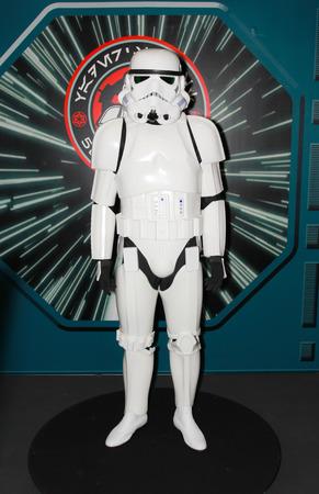 trooper: BANGKOK - MAY  11  A Storm Trooper model in Thailand Comic Con 2014 on May 11, 2014 at Siam Paragon, Bangkok, Thailand  Editorial