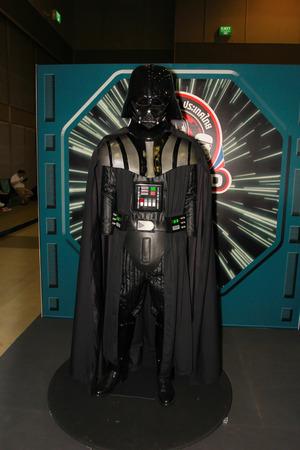 paragon: BANGKOK - MAY  11  A Darth Vader model in Thailand Comic Con 2014 on May 11, 2014 at Siam Paragon, Bangkok, Thailand