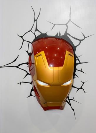 BANGKOK - MAY  11  An Iron Man Mask model in Thailand Comic Con 2014 on May 11, 2014 at Siam Paragon, Bangkok, Thailand