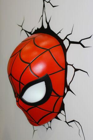 BANGKOK - MAY  11  A Spiderman Mask model in Thailand Comic Con 2014 on May 11, 2014 at Siam Paragon, Bangkok, Thailand
