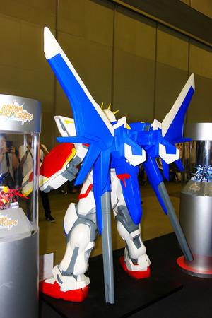 BANGKOK - MAY  11  A Gundam model in Thailand Comic Con 2014 on May 11, 2014 at Siam Paragon, Bangkok, Thailand