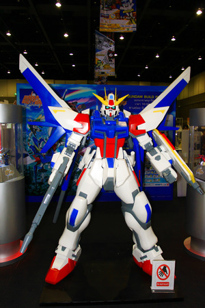 BANGKOK - MAY  11  A Gundam model in Thailand Comic Con 2014 on May 11, 2014 at Siam Paragon, Bangkok, Thailand