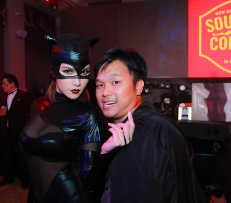 Bangkok - Oct 31: An unidentified Sexy playboy girl in Playboys Gothic Halloween on October 31, 2014 at Grand Postal Building, Bangkok, Thailand.