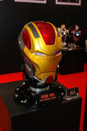vengador: Bangkok - 02 de mayo: Un modelo de m�scara de hierro El hombre en Tailandia Comic Con 2015 el 2 de mayo de 2015 a Siam Paragon, Bangkok, Tailandia.