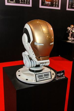 plastic soldier: Bangkok - May 2: An Iron Man Mask model in Thailand Comic Con 2015 on May 2, 2015 at Siam Paragon, Bangkok, Thailand. Editorial
