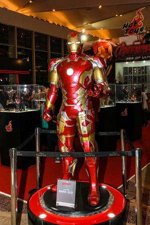 paragon: Bangkok - May 2: An Iron Man model in Thailand Comic Con 2015 on May 2, 2015 at Siam Paragon, Bangkok, Thailand.