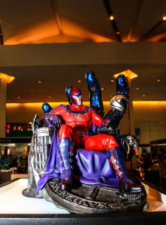 Bangkok  May 2: A Magneto model in Thailand Comic Con 2015 on May 2 2015 at Siam Paragon Bangkok Thailand. Editorial