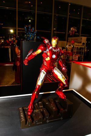 plastic soldier: Bangkok  May 2: An Iron Man model in Thailand Comic Con 2015 on May 2 2015 at Siam Paragon Bangkok Thailand.