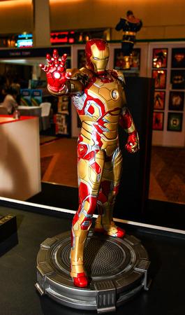 Bangkok  May 2: An Iron Man model in Thailand Comic Con 2015 on May 2 2015 at Siam Paragon Bangkok Thailand.