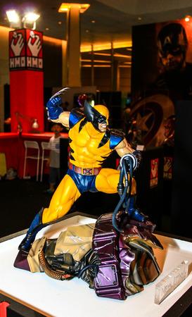 wolverine: Bangkok - May 2: A Wolverine model in Thailand Comic Con 2015 on May 2, 2015 at Siam Paragon, Bangkok, Thailand. Editorial