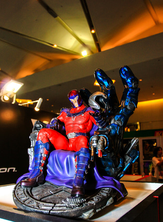 magneto: Bangkok - May 2: A Magneto model in Thailand Comic Con 2015 on May 2, 2015 at Siam Paragon, Bangkok, Thailand.