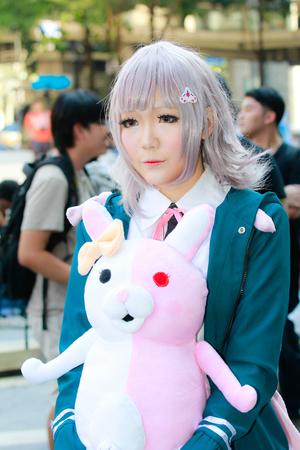 anime young: Bangkok - Feb 12: An unidentified Japanese anime cosplay  pose on Febuary 12, 2017 at Central World, Bangkok, Thailand.