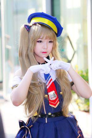 Bangkok - Feb 12: An unidentified Japanese anime cosplay  pose on Febuary 12, 2017 at Central World, Bangkok, Thailand.