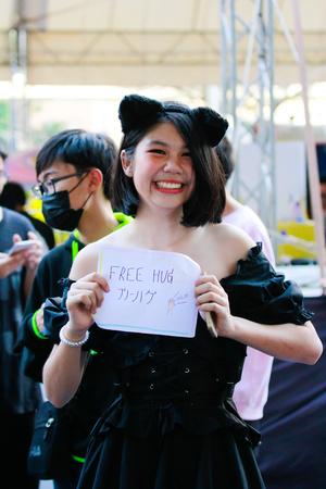 Bangkok - Jan 27: An unidentified Japanese anime cosplay pose on January 27, 2019 at Central World, Bangkok, Thailand. 報道画像