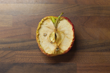 discolored: sliced Apple Stock Photo
