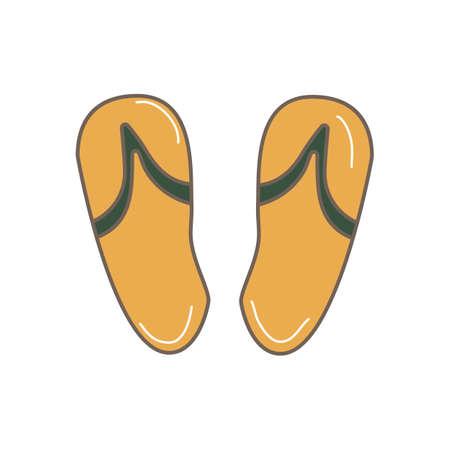 Hand Drawn Doodle slippers Illustration Vetores