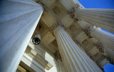 Looking Up at US Supreme Court Stock Photo