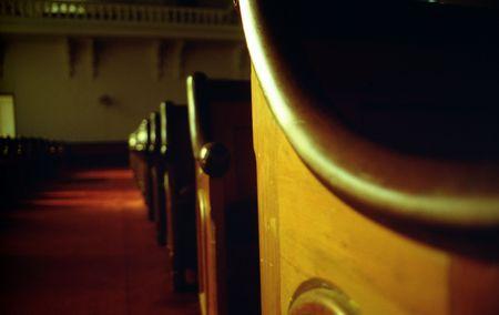 Church pews and aisle