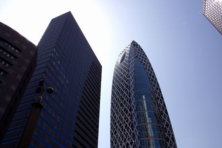 Modern architecture skyscrapers standing tall in Tokyos Shinjuku ward