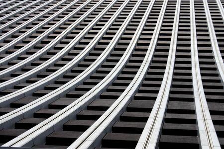 Abstract view of skyscraper wall in Tokyo's Shinjuku Ward