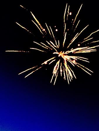 Fireworks celebrating Independence Day 2016