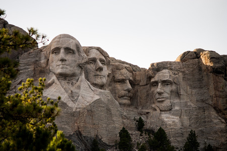 Mount Rushmore National Monument in the Black Hills of South Dakota Editorial