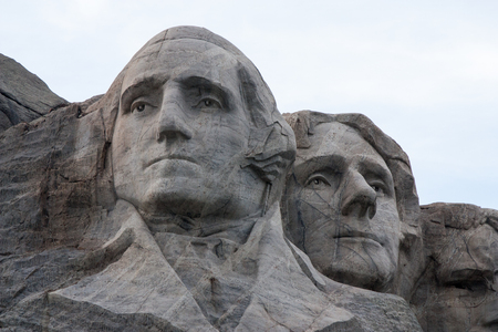 Mount Rushmore National Monument in the Black Hills of South Dakota featuring George Washington and Thomas Jefferson