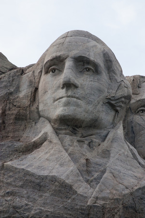 Mount Rushmore National Monument in the Black Hills of South Dakota featuring George Washington