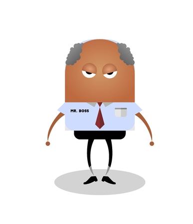Angry boss Illustration